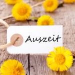 Banner with Auszeit — Stock Photo #46647119