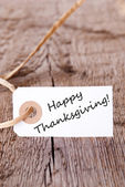 Natural Background with Happy Thanksgiving — Stock Photo