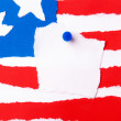American Flag with Copy Space — Stock Photo