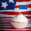 Cupcake with Blue Flag — Stock Photo #48699959