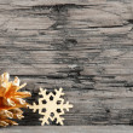 Golden Christmas Decoration on Black White — Stock Photo #48700045