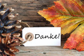 Fall Background with Danke — Stock Photo