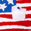 American Flag as Paper Background with Copyspace — Stock Photo