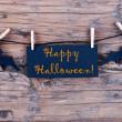 Halloween Label — Stock Photo