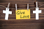 Banner with Give Love — Stock Photo