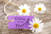 Label with Enjoy the little Things — Stock Photo