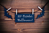 Label with 31st October Halloween — Stock Photo