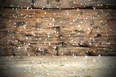 Wooden Texture with Snow — Photo