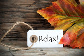 Fall Label with Relax — Stock Photo