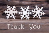 Snowflakes with Thank You — Stock Photo