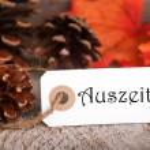 Autumn Label with Auszeit — Stock Photo #51465933