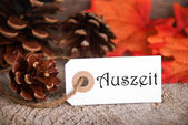 Autumn Label with Auszeit — Stock Photo