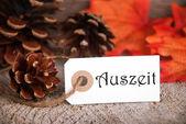 Autumn Label with Auszeit — Stockfoto