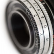 Old camera lens - Stock Photo