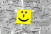 Emoticon Sticky Note — Stock Photo