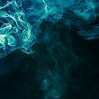 Bluish-green smoke — Stock Photo