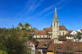 Baden town in the Swiss canton of Aargau — Stock Photo