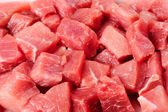 Meat chunks — Stock Photo