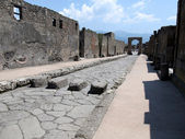 Pompeii, mecurio street — Stock Photo