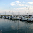 Stock Photo: Group of sailboats moored