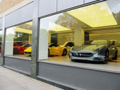 Ferrari Store in London — Stock Photo