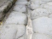 Cobbled street in pompeii — Stock Photo