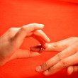 Royalty-Free Stock Photo: Ring on the finger