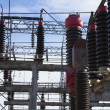 Stock Photo: Electrical substation detail