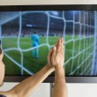 Stock Photo: Mwatching football match