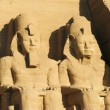 Abu Simbel heads, Egypt, Africa — Stock Photo