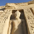 Hathor Temple in Abu Sibel in southern Egypt  the temple was a gift of Ramses II for his wife Nefertari — Foto de Stock