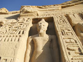 Hathor Temple in Abu Sibel in southern Egypt the temple was a gift of Ramses II for his wife Nefertari — Stock Photo