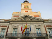 Real Casa de Correos Facade in Puerta del Sol — Stock Photo