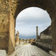 Pompei is a ruined Roman city near modern Naples - Stock Photo
