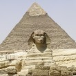 The Sphinx and Chephren Pyramid Gizeh Egypt — Stock Photo #22901304