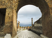 Pompei is a ruined Roman city near modern Naples — Stock Photo