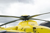 Detail of a helicopter propellers top — Foto Stock