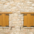 Two closed wooden windows — Stockfoto