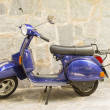 Blue Motor Scooter Vespa — Stock Photo