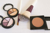 Make up facial powder foundation — Stock Photo