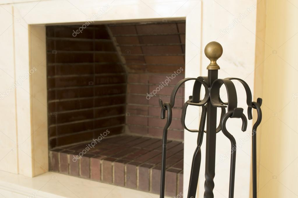 how to clean a black fireplace