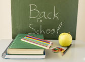 Tillbaka till skolan med hälsosam mat — Stockfoto