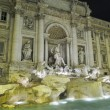 Fontana di Trevi night — Stock Photo