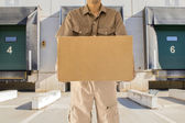 Man offering his goods transportation — Stock Photo