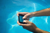 Waterproof phone — Stock Photo