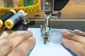 Dressmaker working — Stock Photo