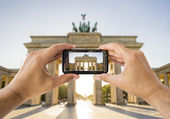 Taking a picture a brandenburg gate — Stock Photo