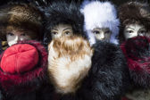 Mannequin in furry hat — Stock Photo