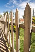 Wooden fence — Stockfoto