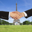 Closing a deal in Paris — Stock Photo #33329725